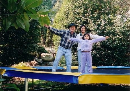 Ivan, Kaz and Cynthia McMillan-owners of Vikan Trampolines, founded in Canada