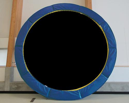 Vikan blue trampoline | Round Trampoline Canada | Calgary, Edmonton, Vancouver, Toronto Trampolines