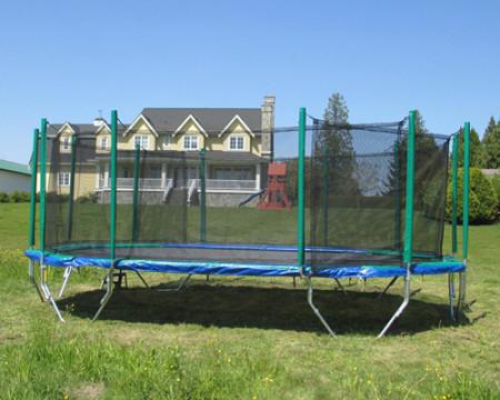 Vikan Trampoline | 24 foot enclosure for Trampolines Canada | Calgary, Edmonton, Vancouver, Toronto Trampolines