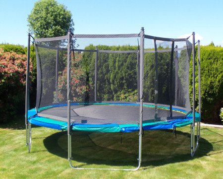 16 Ft Round Trampoline Enclosure Gold Vikan