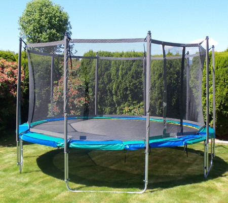 11 Ft X 17 Ft Rectangular Trampoline Enclosure Gold For