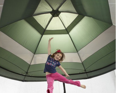 Trampoline canopy safety for kids