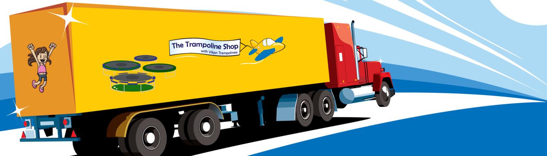 Shipping Truck | Trampoline Shop Canada